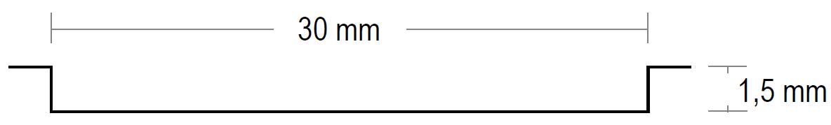 Prägung Breite 30 mm