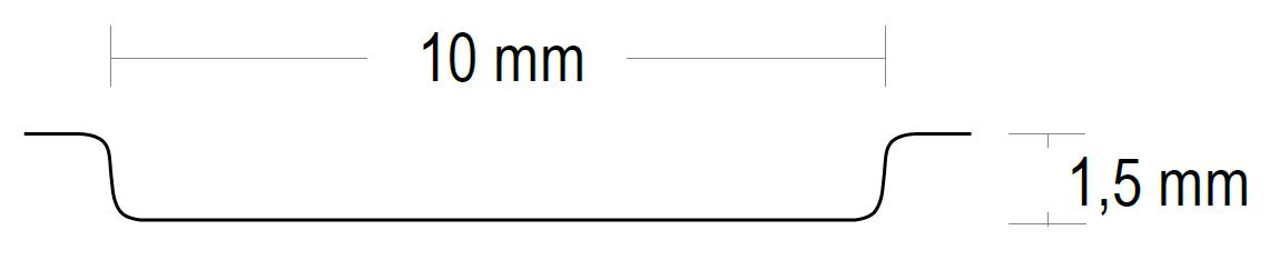 Prägung Breite 10 mm