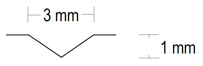 Prägung V-Rillen